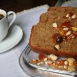 Plum cake al caffè e cioccolato bianco