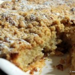 Torta di mele e mirtilli con streusel allo zenzero