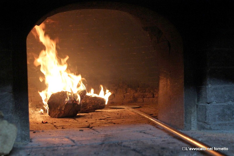 Il forno pronto per la pizza