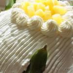 Zuccotto alla crema con ananas caramellato