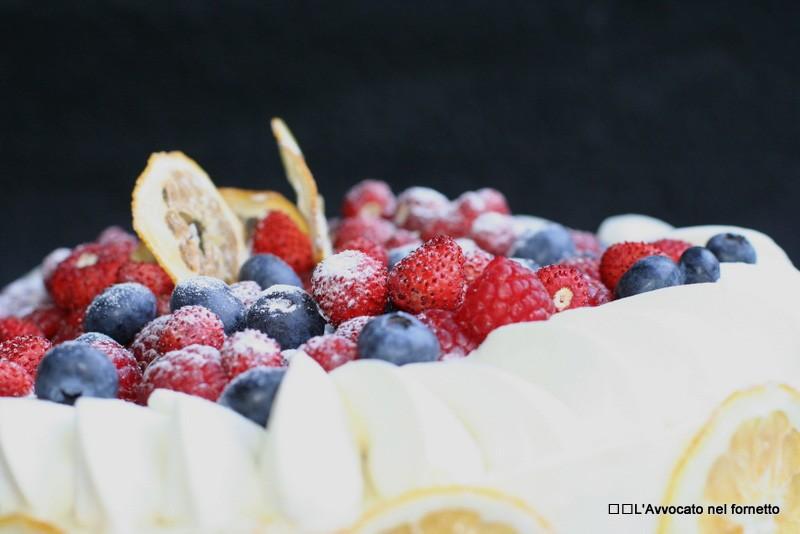 Torta con crema chocolatine bianca