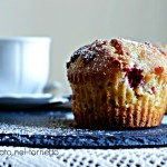 American muffin ai lamponi e cioccolato bianco