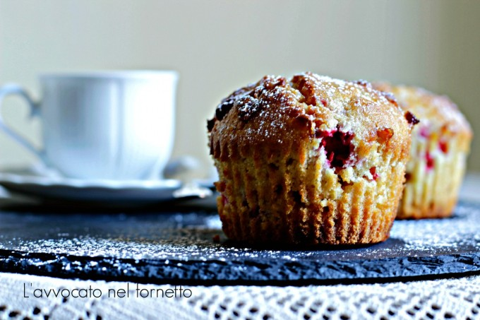 American muffin ai almponi e cioccolato bianco1