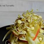 Insalata di finocchi e mele con germogli di lenticchie