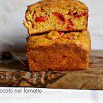 Cake ai pomodorini confit e basilico