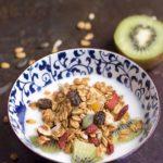 Granola con semi di zucca e bacche di goji